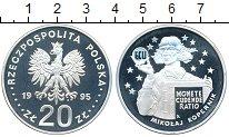 Изображение Монеты Польша 20 злотых 1995 Серебро Proof- Николай Коперник