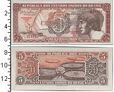 Изображение Банкноты Бразилия 5 крузейро 0  UNC-