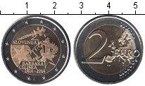 Изображение Мелочь Словения 2 евро 2014 Биметалл UNC-