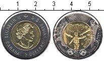 """Изображение Мелочь Канада 2 доллара 2014 Биметалл UNC- Надпись """"Помнить"""" на"""