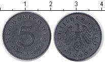 Изображение Мелочь Третий Рейх 5 пфеннигов 1940 Цинк VF