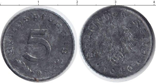 Картинка Монеты Третий Рейх 5 пфеннигов Цинк 1940