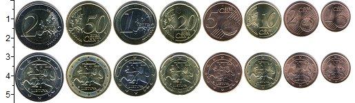 Изображение Наборы монет Литва Литва 2015-2017 0  UNC- В наборе 8 монет ном