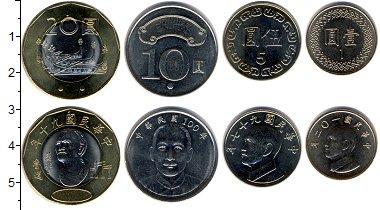 Изображение Наборы монет Тайвань Тайвань 0  UNC- В наборе 4 монеты но