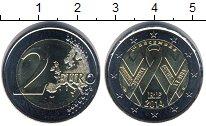 Изображение Мелочь Франция 2 евро 2014 Биметалл UNC-