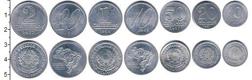 Изображение Наборы монет Бразилия Бразилия 1956-1965 0  XF В наборе 7 монет ном