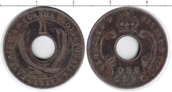 Картинка Монеты Уганда 1 цент Медно-никель 1911