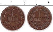 Изображение Монеты Немецкая Африка 1/2 хеллера 1904 Медь XF