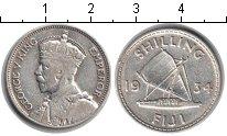 Изображение Монеты Фиджи 1 шиллинг 1934 Серебро VF Георг V