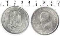 Изображение Монеты Филиппины 1 песо 1963 Серебро UNC- 100-летие Андреса Бо