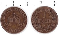 Изображение Монеты Немецкая Африка 1/2 хеллера 1905 Медь VF