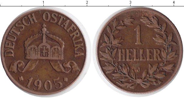 Картинка Монеты Немецкая Африка 1/2 хеллера Медь 1905