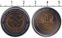 Изображение Монеты Папуа-Новая Гвинея 2 кины 2008 Биметалл UNC- 35-летие национально
