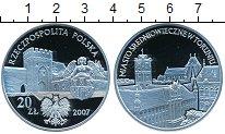 Изображение Монеты Польша 20 злотых 2007 Серебро Proof- Средневековый город
