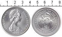Изображение Монеты Остров Мэн 1 крона 1980 Серебро UNC