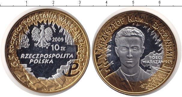 Картинка Монеты Польша 10 злотых Биметалл 2009