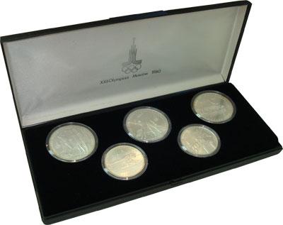 Изображение Подарочные монеты СССР Олимпийские игры 1980 1979 Серебро UNC- `Подарочный набор по