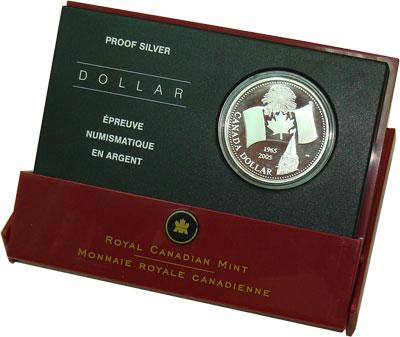 Изображение Подарочные наборы Канада 40-летие независимости канадского флага 2005 Серебро Proof `Подарочная монета `