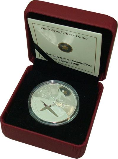 Канада 100-летие полета человека в космос 2009 Серебро