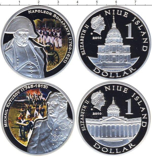 Картинка Подарочные монеты Ниуэ Великие полководцы Серебро 2010