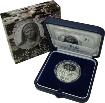 Изображение Подарочные наборы Италия Августо 2014 Серебро Proof `Подарочная монета `