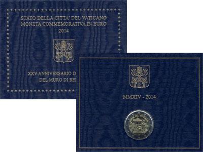 Изображение Подарочные наборы Ватикан 2 евро 2014 2014 Биметалл UNC Подарочная монета но