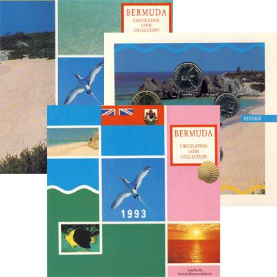 Изображение Подарочные монеты Бермудские острова Фауна Бермудских островов 1993  UNC `Подарочный набор ``