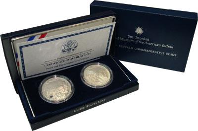 Изображение Подарочные монеты США Буффало 2001 Серебро  `Подарочный набор ``