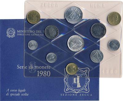 Изображение Подарочные наборы Италия Выпуск 1980 года 1980  UNC