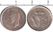 Изображение Монеты ЮАР 3 пенса 1941 Серебро  Георг VI.