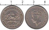 Изображение Монеты Сейшельские острова 50 центов 1948 Медно-никель XF
