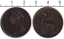 Изображение Монеты Великобритания 1/2 пенни 1887 Медь XF Виктория