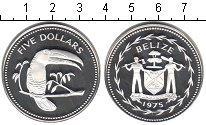 Изображение Монеты Белиз 5 долларов 1975 Серебро Proof Елизавета II