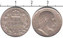 Изображение Монеты Великобритания 6 пенсов 1910 Серебро XF Эдуард VII.