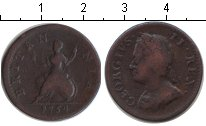 Изображение Монеты Великобритания 1 фартинг 1754 Медь  Георг II