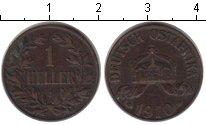 Изображение Монеты Немецкая Африка 1 хеллер 1910 Медь XF
