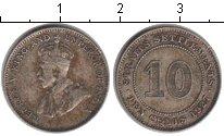 Изображение Монеты Стрейтс-Сеттльмент 10 центов 1927 Серебро VF Георг V