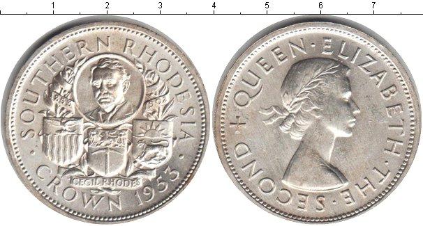 Картинка Монеты Родезия 1 крона Серебро 1953