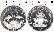 Изображение Монеты Багамские острова 2 доллара 1975 Серебро Proof-