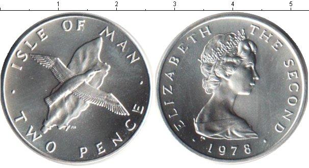 Картинка Монеты Остров Мэн 2 пенса Серебро 1978