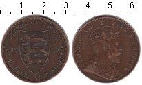 Изображение Монеты Остров Джерси 1/12 шиллинга 1909 Медь VF
