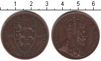 Изображение Монеты Остров Джерси 1/12 шиллинга 1909 Медь VF Эдвард VII