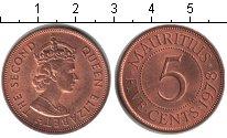 Изображение Монеты Маврикий 5 центов 1978 Медь UNC-