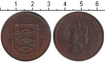 Изображение Монеты Остров Джерси 1/12 шиллинга 1966 Медь XF Елизавета II