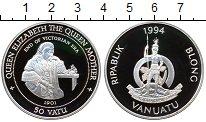 Изображение Монеты Вануату 50 вату 1994 Серебро Proof-