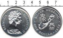 Изображение Монеты Бермудские острова 1 доллар 1972 Серебро Proof- Серебряная свадьба