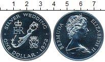 Изображение Монеты Великобритания Бермудские острова 1 доллар 1972 Серебро Proof-
