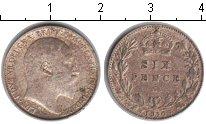 Изображение Монеты Великобритания 6 пенсов 1910 Серебро XF Эдуард VII