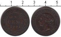 Изображение Монеты Канада 1 цент 1901 Медь XF