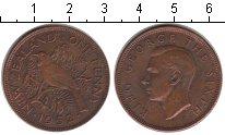 Изображение Монеты Новая Зеландия 1 пенни 1952 Медь XF Георг VI